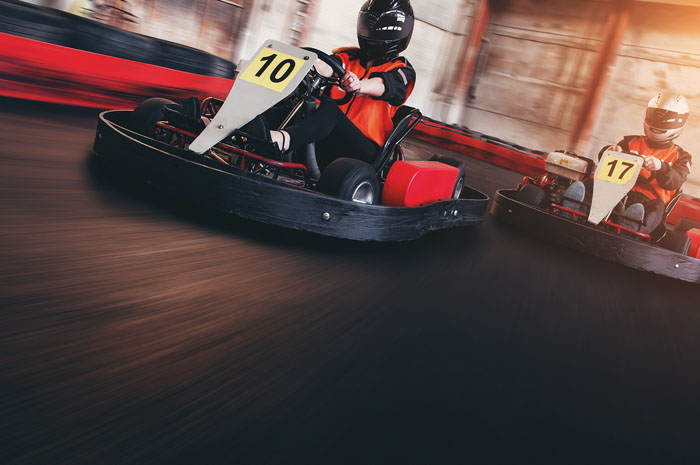 A go-kart at West Coast Karting in Maryport
